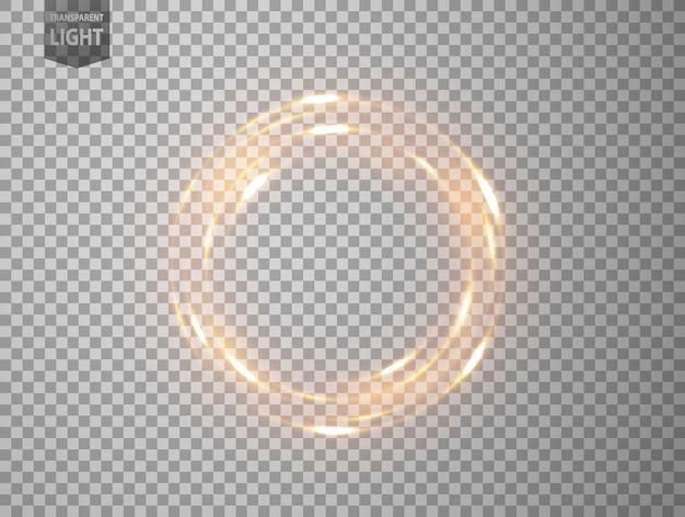回転金の光 Premiumベクター