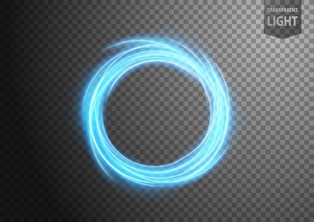 Абстрактная голубая волнистая линия света Premium векторы