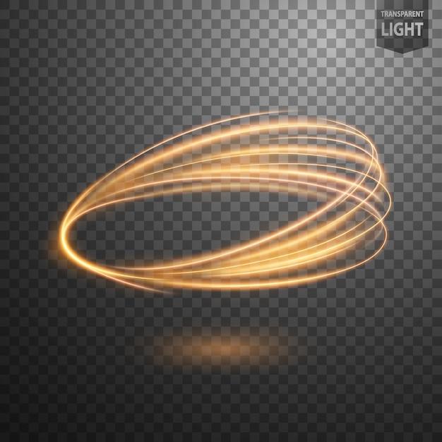 抽象的なゴールドスワールラインの光 Premiumベクター