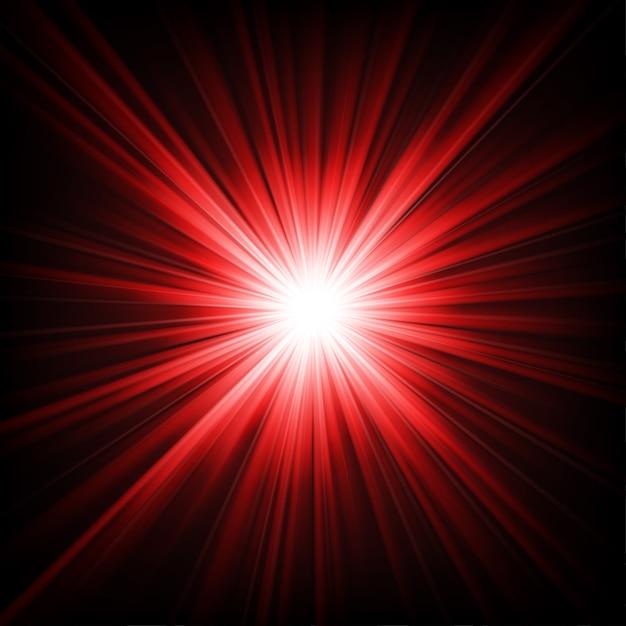暗闇から輝く赤い光 Premiumベクター