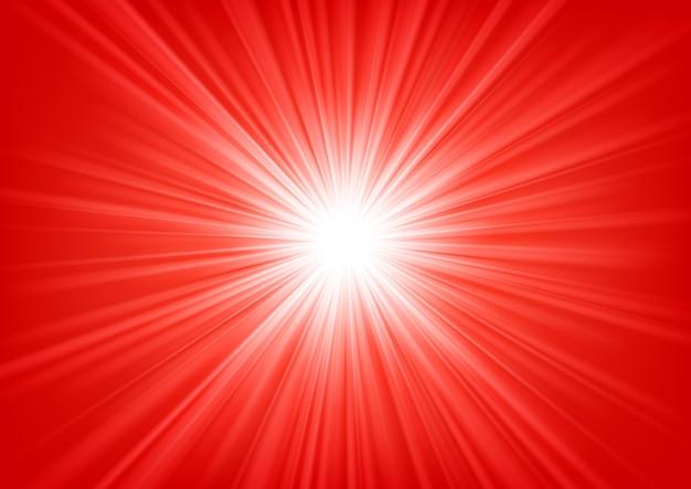 明るい背景に輝く赤い光ベクトル図 Premiumベクター