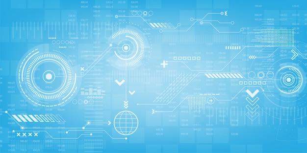 Абстрактный фон технологии Premium векторы