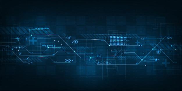 複雑なデジタル作品についての抽象的な背景のベクトル。 Premiumベクター