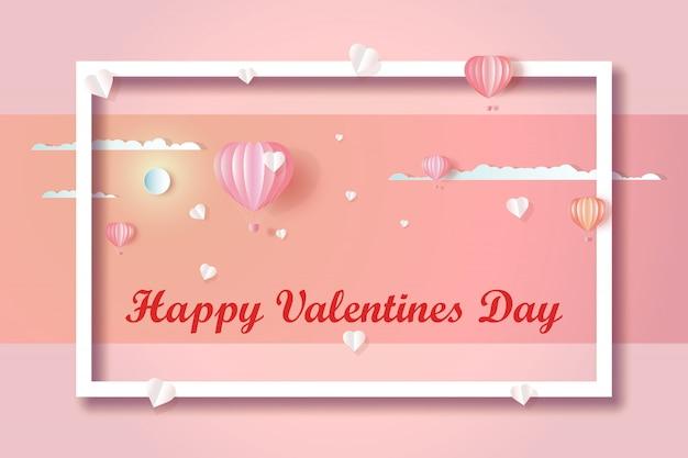День святого валентина счастливая любовь фон Premium векторы