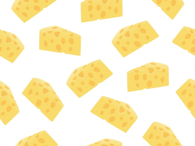 Бесшовные ломтик сыра Premium векторы