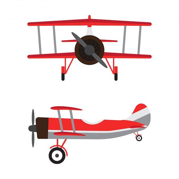 Винтажные самолеты или ретро-модели самолетов Premium векторы