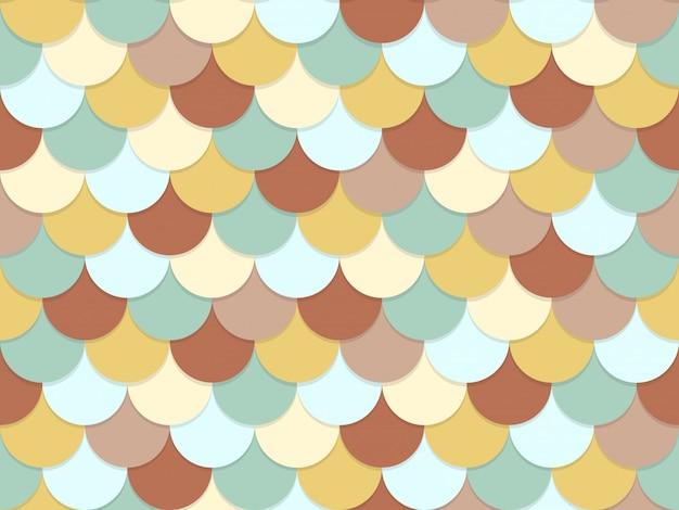 Бесшовные узор из перекрывающихся круг пастельных цветов Premium векторы