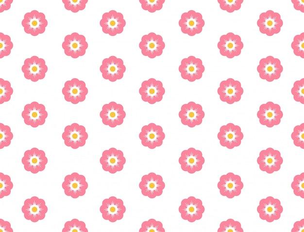 シームレスパターン桜の花 Premiumベクター