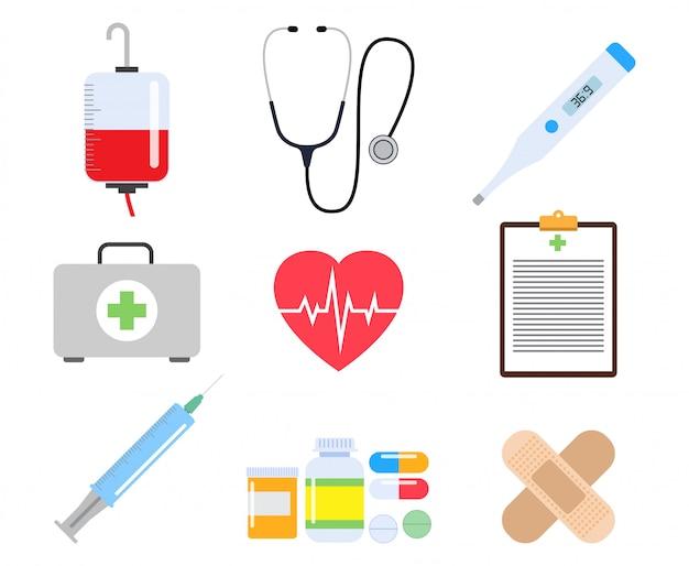 医療要素の医療と医学のコレクション Premiumベクター