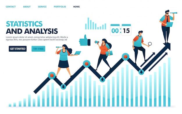 企業業績に関する年次統計、分析計画戦略、企業のアイデアをご覧ください。 Premiumベクター