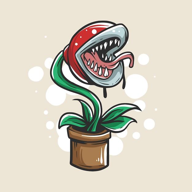 ゾンビの植物図 Premiumベクター