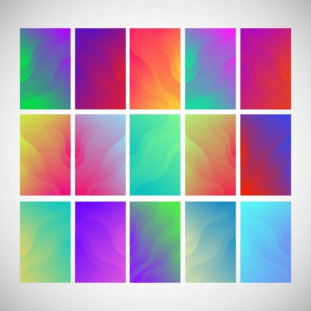 Цветной абстрактный фон градиент Premium векторы