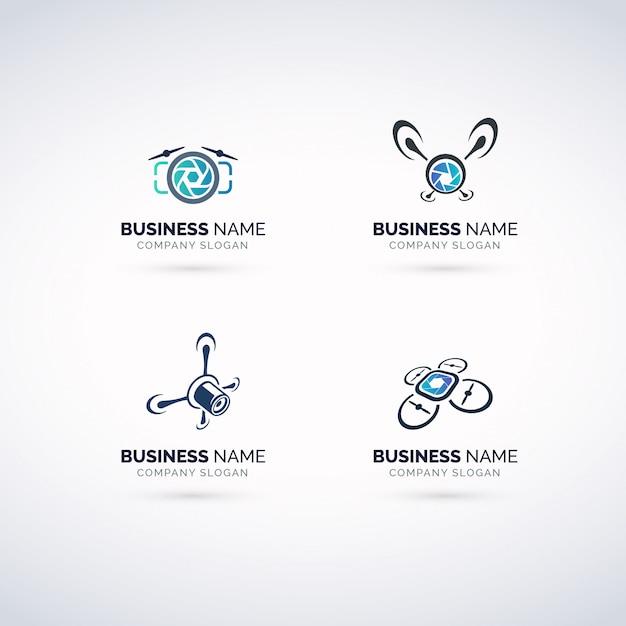 Набор логотипов для фотографий Premium векторы