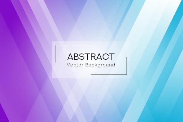 抽象的な青と紫の線の図形の背景 Premiumベクター