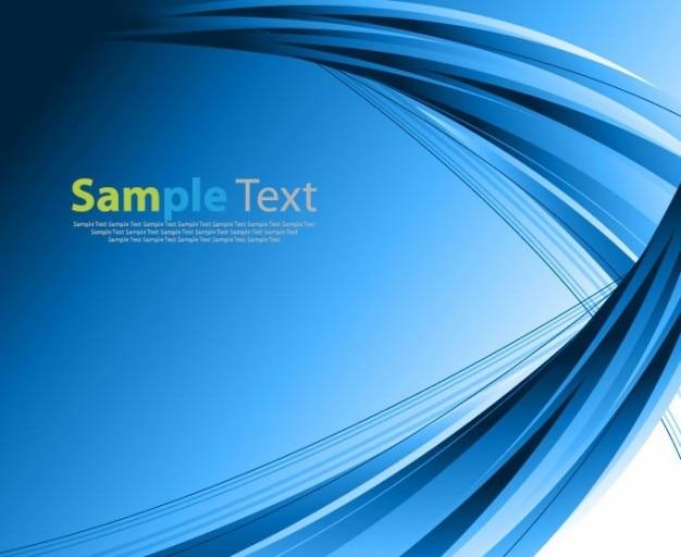 抽象的な青色のベクトルの背景 無料ベクター