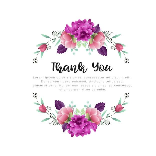 花と葉の水彩画の花のフレーム Premiumベクター