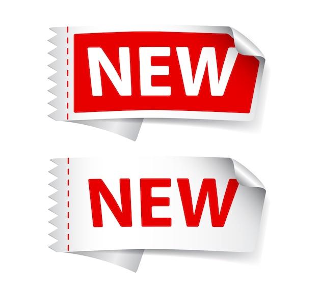 新しいラベルデザイン Premiumベクター