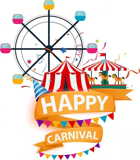 Ярмарка и карнавал фон Premium векторы