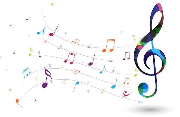 カラフルな音符 Premiumベクター