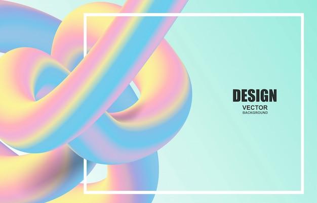 Абстрактный красочный фон формы жидкости Premium векторы