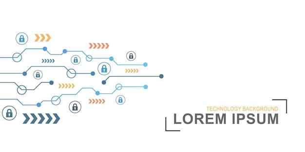 サイバーセキュリティの概念抽象的な技術の背景 Premiumベクター