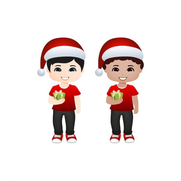 かわいいクリスマス Premiumベクター