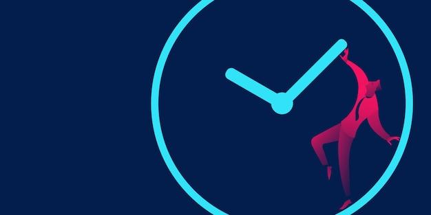 Задержка, сроки и время управления бизнесом Premium векторы