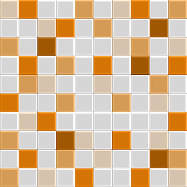 オレンジ色のタイルテクスチャ Premiumベクター