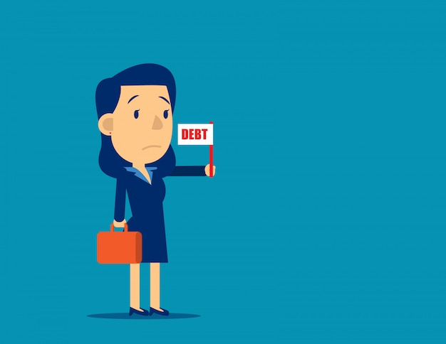 負債フラグ記号を保持している事業者 Premiumベクター