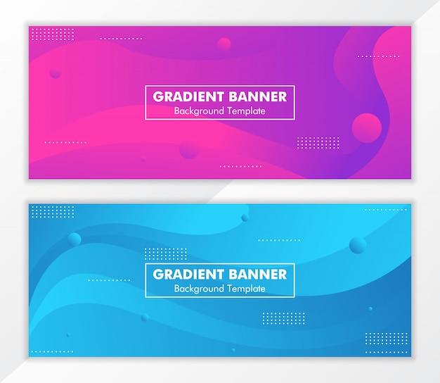 Абстрактный фон градиент жидкости баннер Premium векторы