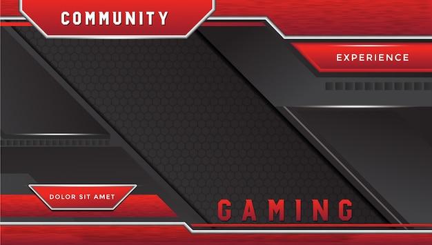 グランジ効果を持つ未来的なゲームの壁紙デザイン Premiumベクター