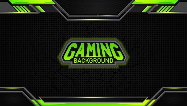 Футуристический черный и зеленый игровой фон Premium векторы