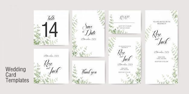 Шаблон приглашения на свадьбу Premium векторы