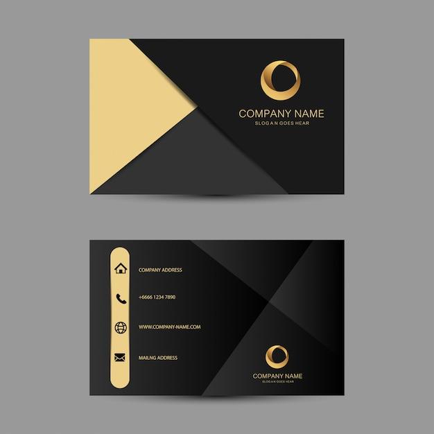 Геометрический фон шаблон визитной карточки Premium векторы