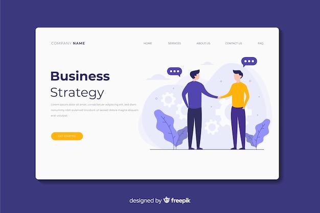 Целевая страница бизнес-стратегии Бесплатные векторы