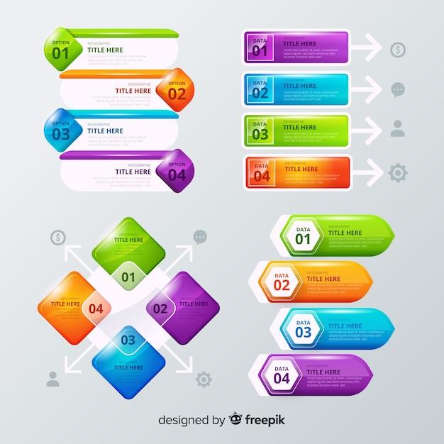 インフォグラフィック要素の収集 無料ベクター