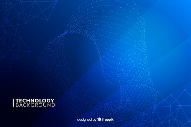 Синий технологический фон Бесплатные векторы