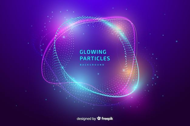 Фон светящихся частиц Бесплатные векторы