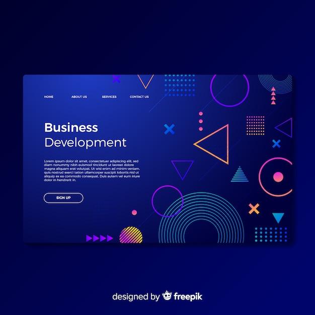Целевая страница развития бизнеса Бесплатные векторы