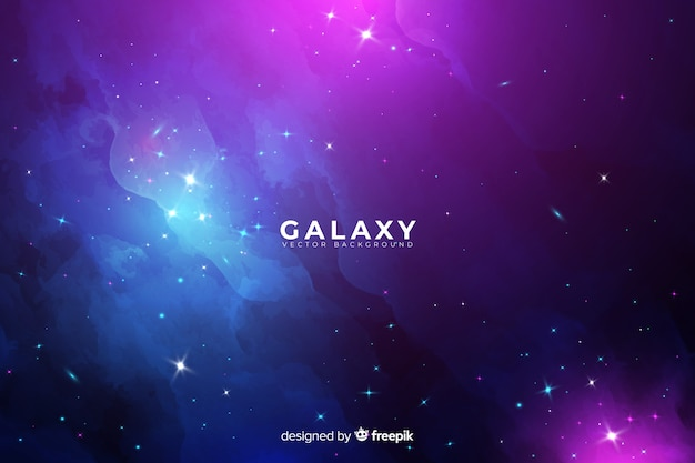 抽象的な銀河の背景 無料ベクター