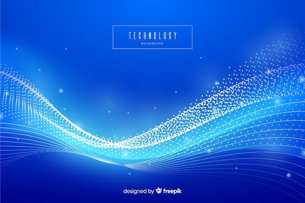 Синий абстрактный фон технологии Бесплатные векторы