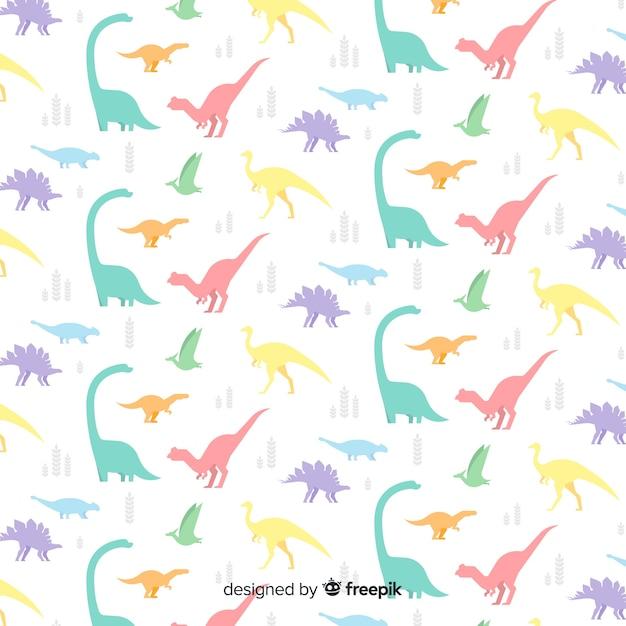 Плоский рисунок динозавра Бесплатные векторы