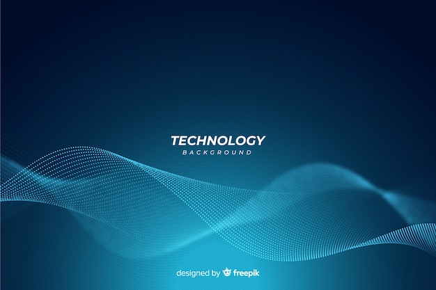 ブルー抽象的な技術の背景 無料ベクター