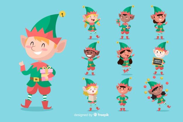 クリスマスキャラクターコレクション 無料ベクター