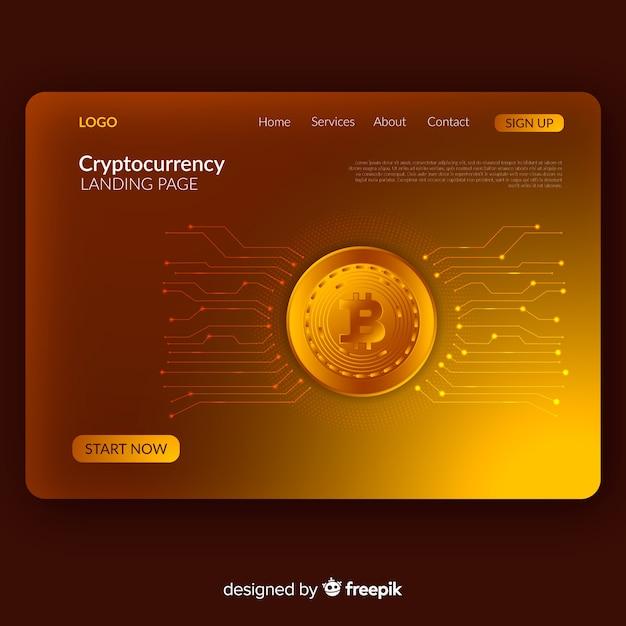 Целевая страница криптовалюты Бесплатные векторы