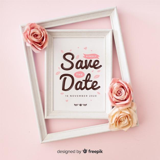 写真付きの日付の文字を保存する 無料ベクター