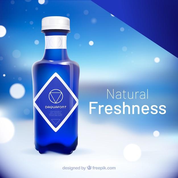 現実的なスタイルの天然水広告 無料ベクター
