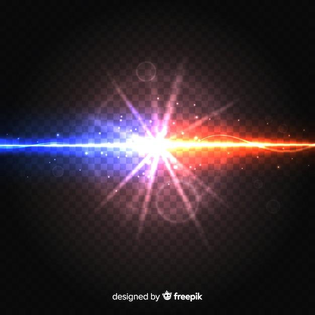 現実的な力が光の効果をクラッシュさせる 無料ベクター