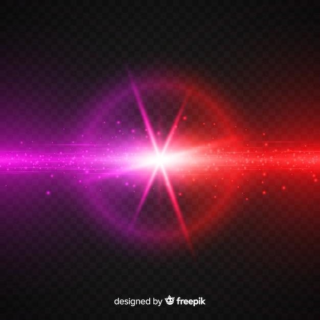 Реалистичные силы краш световой эффект Бесплатные векторы