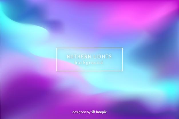 Абстрактный размытый фон северное сияние Бесплатные векторы